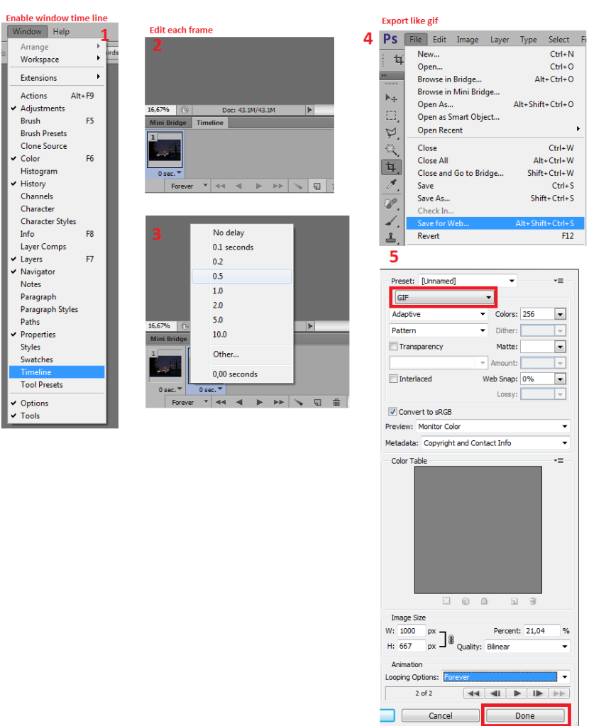 How_to_save_animated_gif_using_photoshop